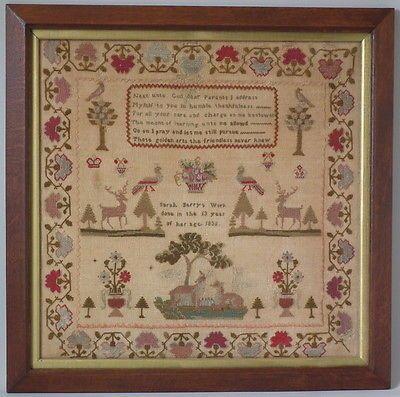 1835 Stag Sampler by Sarah Berry   eBay
