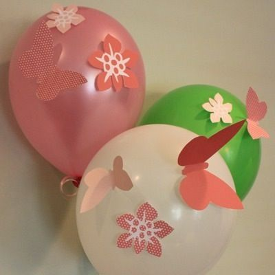 Girl's Birthday Party Flower Décor Cut-Out Template