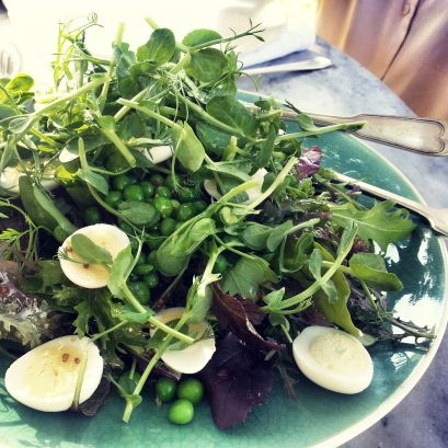 Delicious salad at The Table at De Meye wine farm