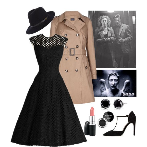 """River Song from """"The Angels Take Manhattan"""" by novemberwitch on Polyvore featuring Jeffrey Campbell, rag & bone, MAC Cosmetics, Sephora Collection, doctorwho, riversong and AlexKingstone"""