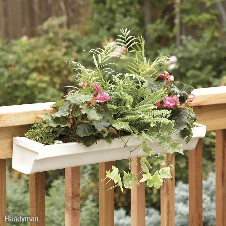 32 Best Deck Rail Planters Images On Pinterest: Deck Railing Planter
