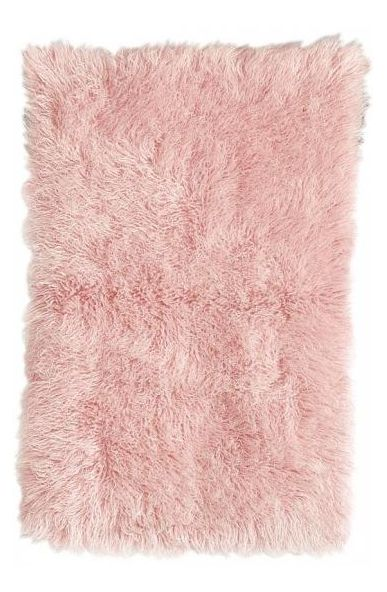 Pink is the ultimate girly-girl color! Layer this area rug over a rug pad to keep it in place in a bedroom over hardwoord floors.