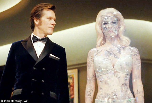 First look: January Jones shows off her diamond powers as Emma Frost in the trailer for X Men: First Class