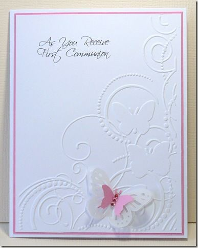 pinterest first communion cards | this lovely embossing folder is made by darice the sentiment
