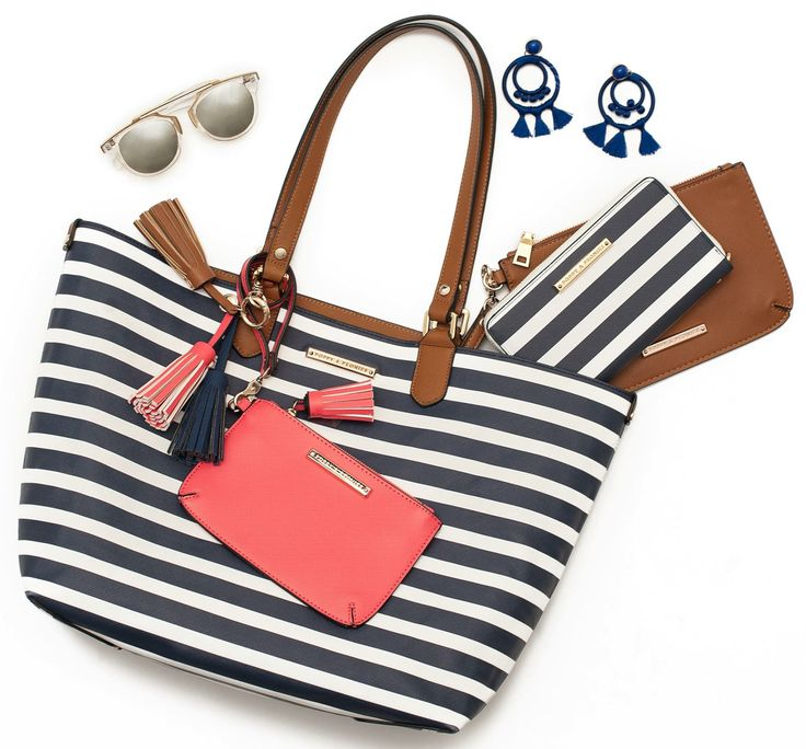 Nautical Collection  #jetsetter #tote #nautical #reversible #veganleather