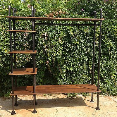 Vintage Industrial Gas Pipe Retail Display Unit Hanging Clothes Rail Shop in Business, Office & Industrial, Retail & Shop Fitting, Retail Display | eBay