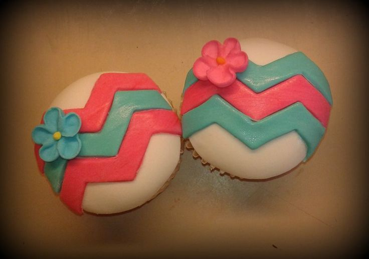 Modern Chevron Cupcakes