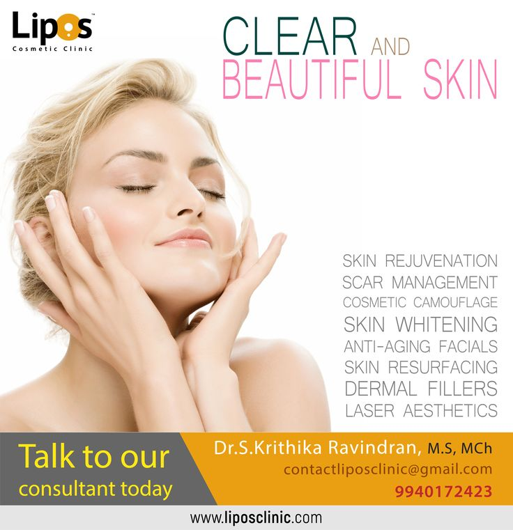 CLEAR AND BEAUTIFUL SKIN Talk to our consultant today—Dr. S Krithika Ravindran (+91) 9940–172–423 Visit: www.liposclinic.com #BestTreatment #LiposCosmeticClinic #LiposClinic #AntiAging #ScarManagement #Chemicalpeels #PRPTherapy #BeautyCare #LaserAesthetics #SkinWhitening #SkinRejuvenation #Chennai #Treatment #PlasticSurgeon #CosmeticSurgeon #FacialPlasticSurgery #AgeMangement #Cosmetologist #DrKrithikaRavindran #mondaymotivation #BeautyGuide