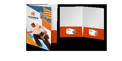 Custom Presentation Folder : A custom presentation folder, usually created with an internal 2-pocket design and business card holder option, are the favoured way to distributed printed materials at internal company events as well as 3rd party client meetings. With optional coatings, folders can feature a sophisticated sheen or bold gloss. | genevayoung