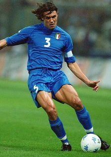Look at the legs of Paolo Maldini