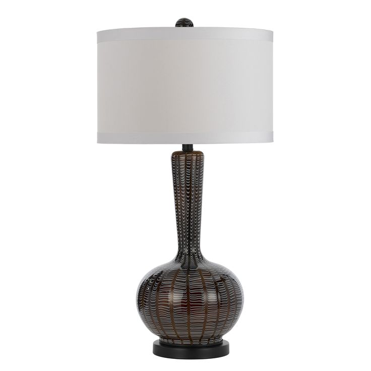 AF Lighting Candice Olson Odyssey H Table Lamp With Drum Shade