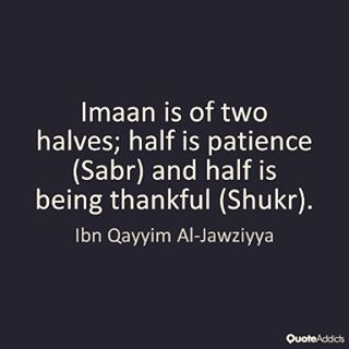Sabr + Shukr