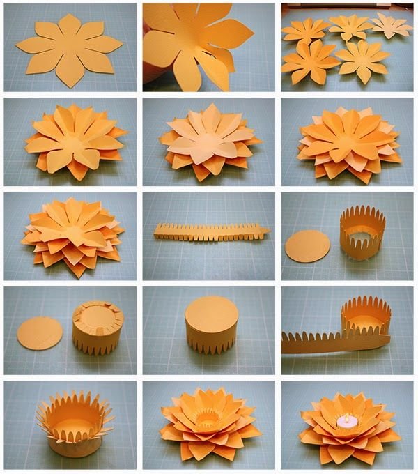 The 17 best flowers images on pinterest paper flowers flower bits of paper lotus flower tealight candle holder mightylinksfo