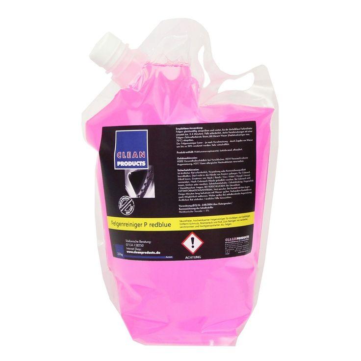 CLEANPRODUCTS Felgenreiniger P redblue - 2,5 kg  Säurefreier, hochwirksamer Felgenreiniger für Alufelgen und Stahlfelgen. Entfernt zuverlässig Schmutz, Bremsstaub und Ruß. Zum Reinigen von lackierten, verchromten und hochglanzpolierten Alu-Felgen. Die optimale Felgen-Reinigung und Felgen-Pflege.