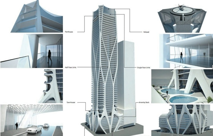 Zaha Hadid's Sci-Fi Miami Condo Tower Has A Helipad—And Other Awesome Things