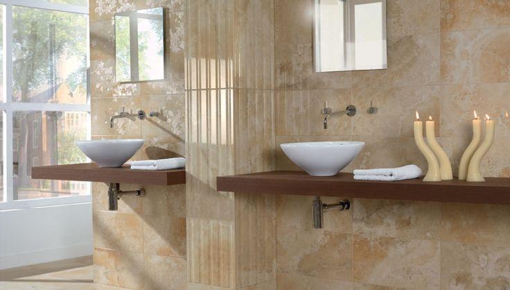 Dise o ambientes decoraci n de cuartos de ba o de l nea - Ceramica para banos modernos ...
