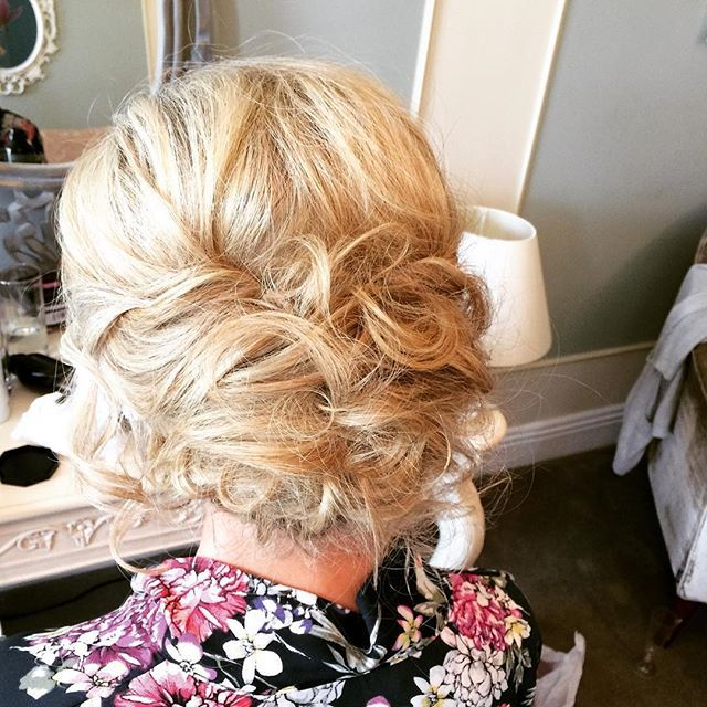 texture, soft curled, loose bridal upstyle  hair by Aisling Hamill