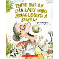 Language activities for There Was An Old Lady Who Swallowed a Shell. Repinned by  SOS Inc. Resources.  Follow all our boards at http://pinterest.com/sostherapy  for therapy resources.