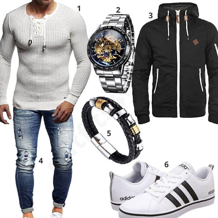 Herren-Style mit Automatikuhr, Armband und Adidas (m0935)