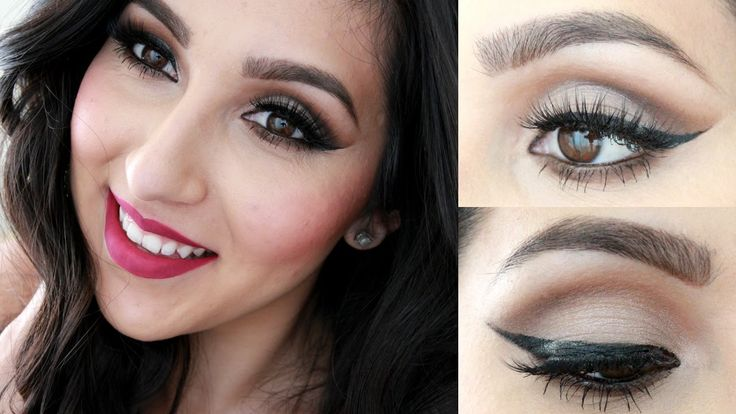 Check out Beautyybird's Yasmin Maya create perfect winged eyeliner using our cat eyeliner stencil. #eyeliner #stencils
