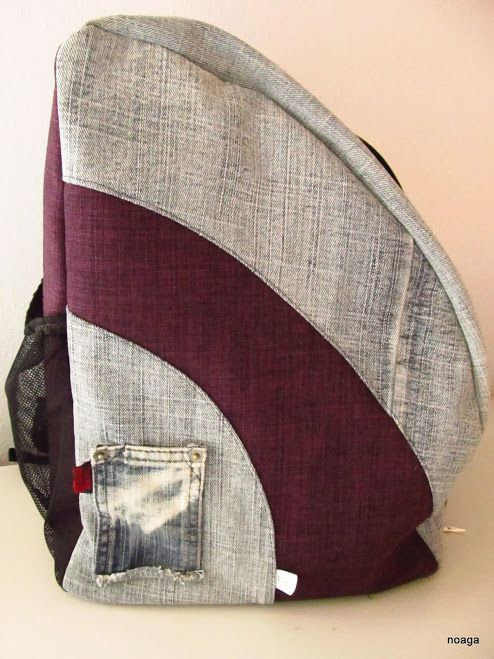 Old jeans recycled into bagpack  :)