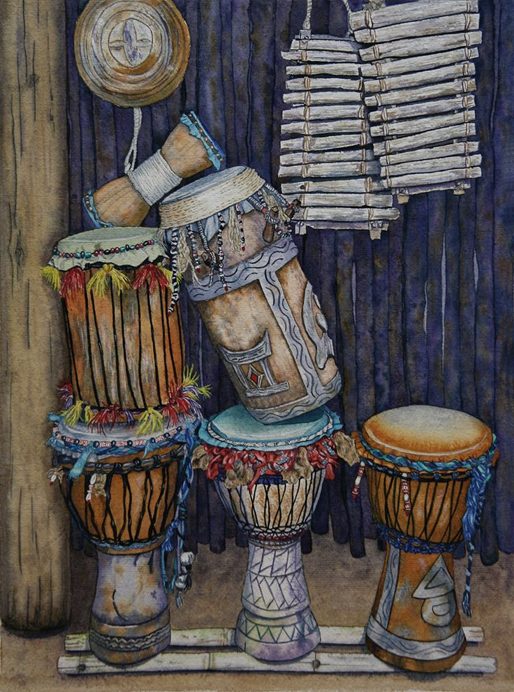 African Drums by Marcy Trahan