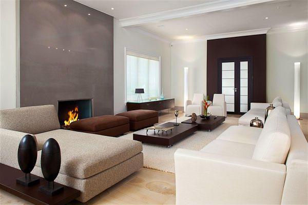 Contemporary Living Room Design ~ Neutrals