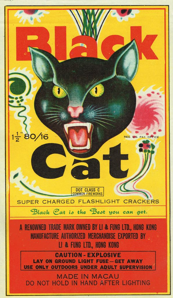 Black Cat C5 80-16 Firecracker Brick Label   by Mr Brick Label