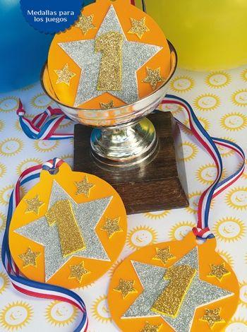 Medallas para juegos - Goma Eva  Ideas para festejar un cumpleaños divertido, compra ya las instrucciones en www.eviadigital.com y empeza de inmediato a trabajar en tu proyecto.