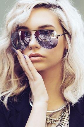 Quay x Amanda Steele Muse Sunglasses in Black/Purple