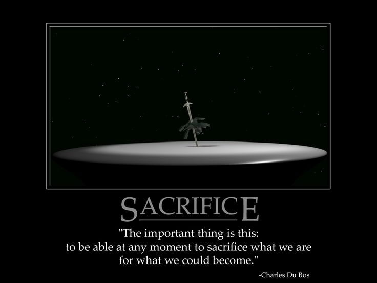 sacrifice in a relationship meaning