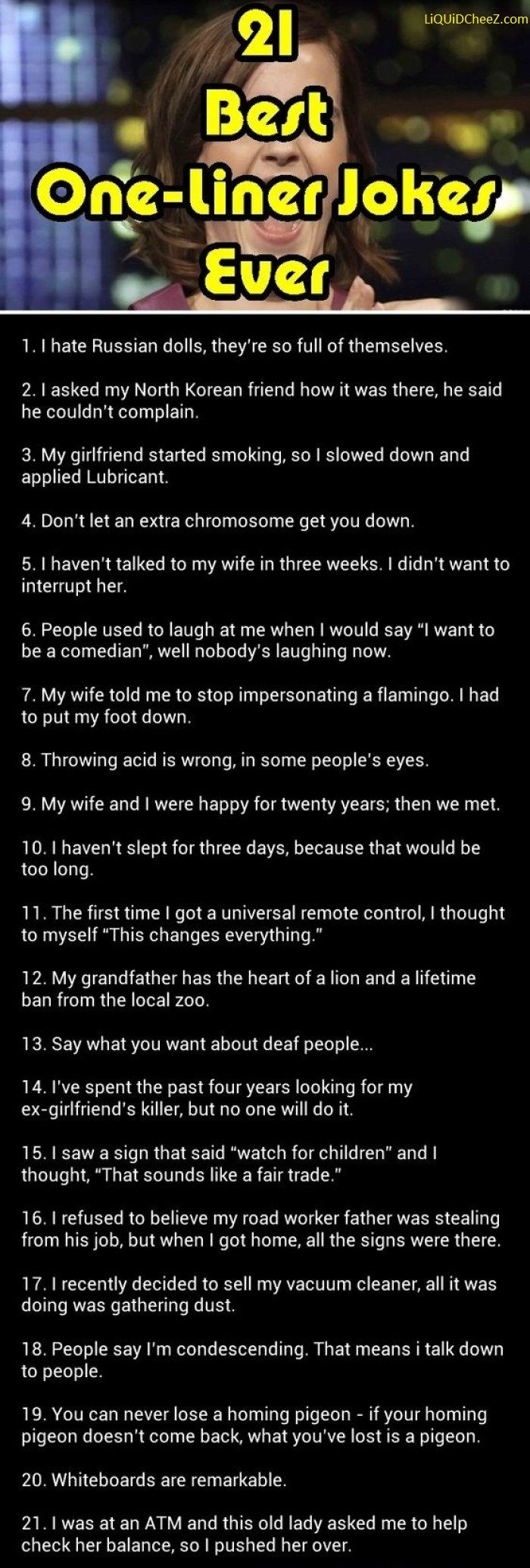 Awesome dating one liners