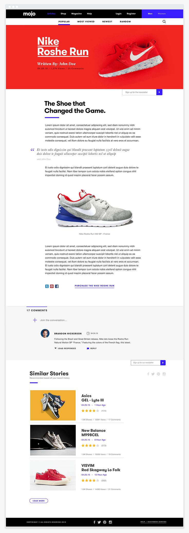 Mojo Footwear Blog on Behance