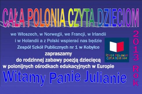 """All of Polonia Reads to Children: """"Welcome Mr. Julian!"""" 