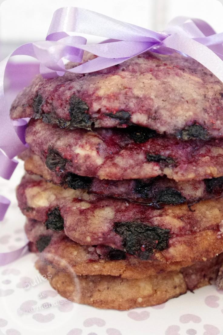 Blueberry cookies recipe ! / Cookies myrtilles et chocolat blanc... Et nos papilles retrouvent des couleurs !!!