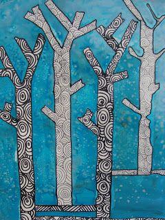 arbre avec motifs