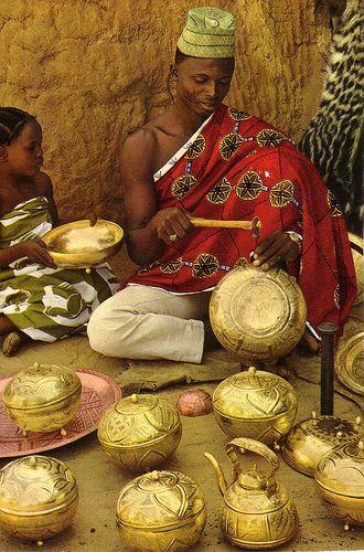 Nupe, Nigeria. Bida Brasswork   Flickr - Photo Sharing!