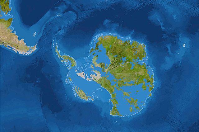 La Antártida y Australia, si los polos se derritieran