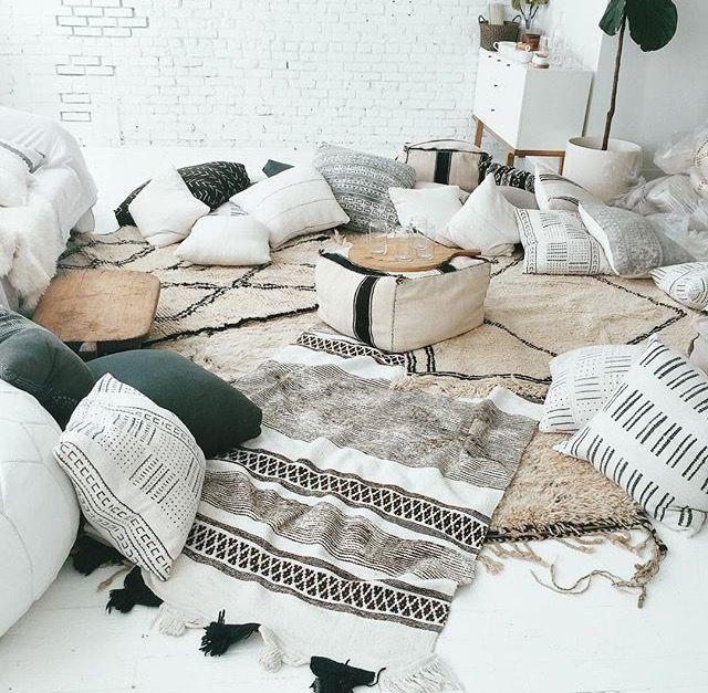 Boho  Floor pillows                                                                                                                                                     More