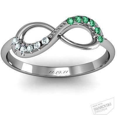 His/Her birthstone and wedding anniversary infinity ring!