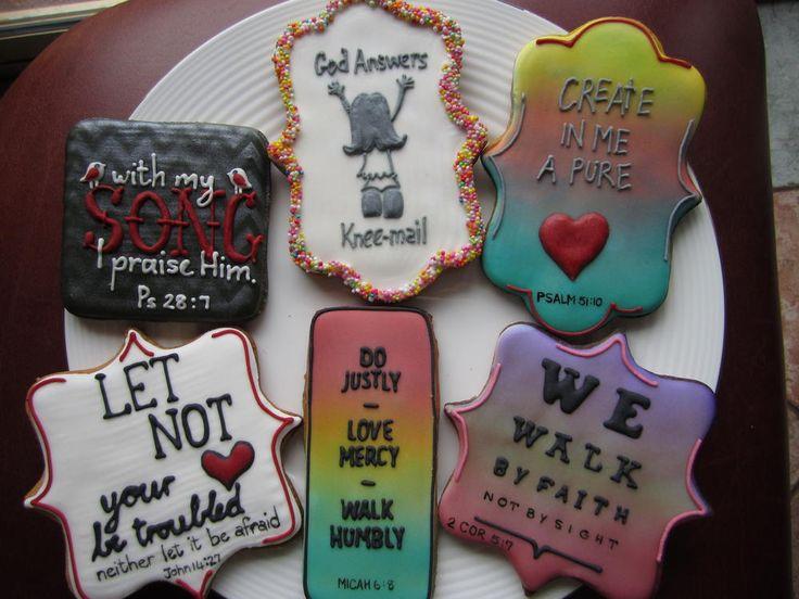Scripture cookies     Bickie Blessings
