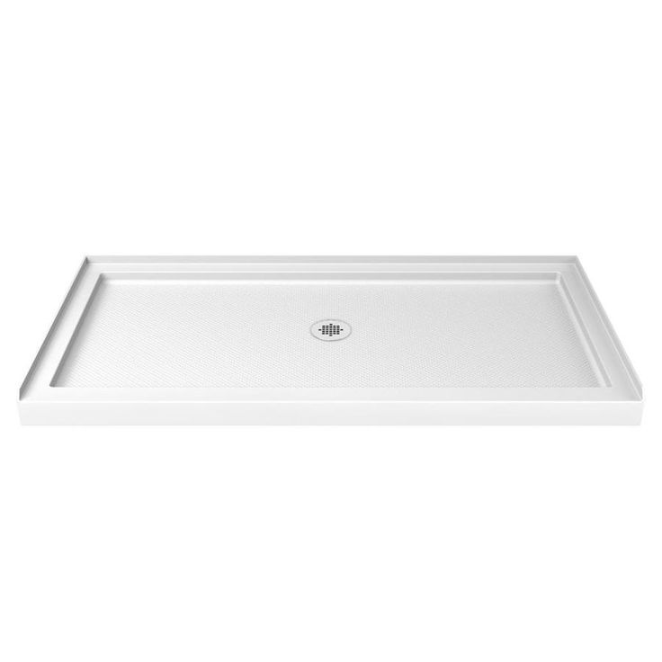 DreamLine SlimLine White Acrylic Shower Base (Common: 36 In W X 60
