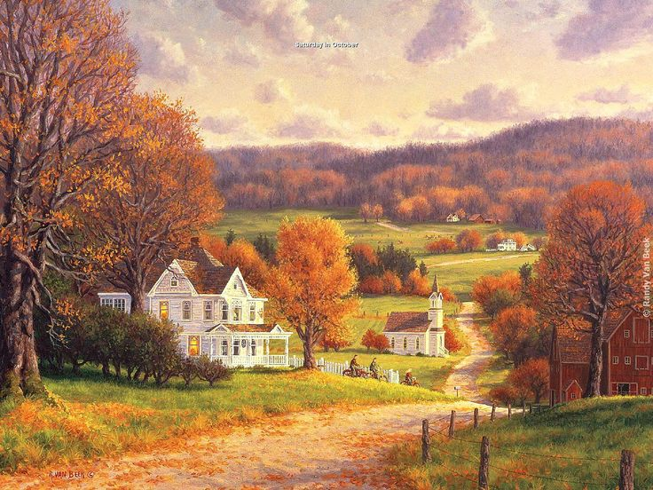 """Randy Van Beek - """"Saturday in October"""" (Love rambling on October weekends, enjoying nature's beauty and bounty...its sounds....its smells...all of it!)"""