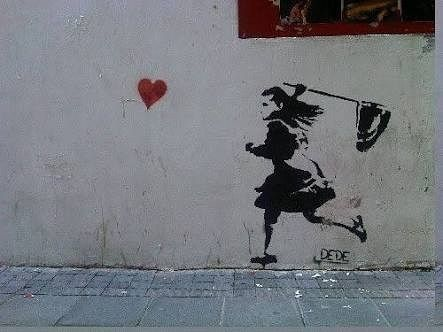 And just like butterflies when you were 5 you were lucky when you caught one #streetart by misszihle