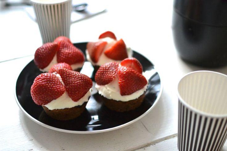LCHF strawberry cupcakes (glutenfree)