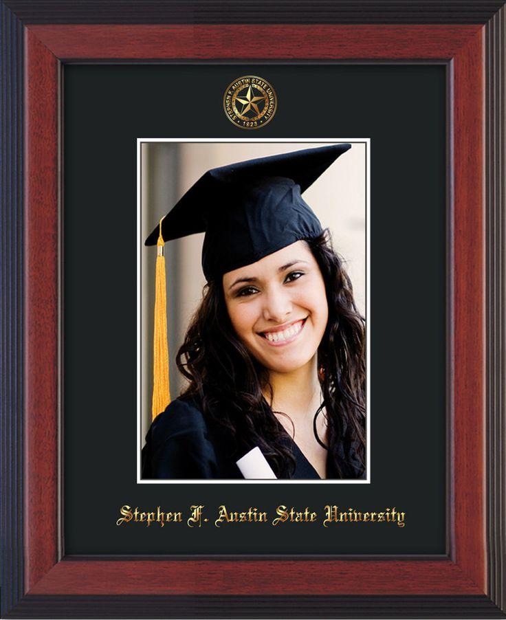 Stephen F Austin State 5 x 7 Cherry Reverse photo frame w/black mat. – Professional Framing Company