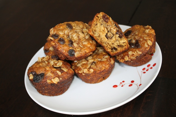 Banana Oatmeal Raisin Muffins | Delish! | Pinterest