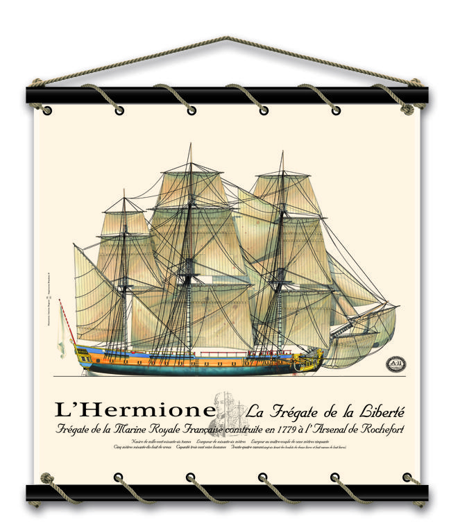A l'occasion de la mise à l'eau de l'Hermione qui aura lieu cet été à Rochefort, découvrez ce nouveau panneaux décoratif et plongez-vous dans l'histoire de ce bateau mythique commandé entre-autre par La Fayette.