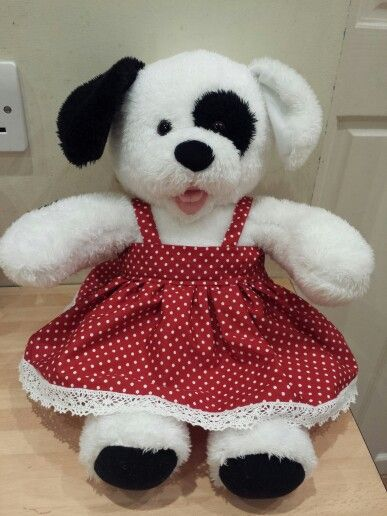Build a bear polka dot dreas