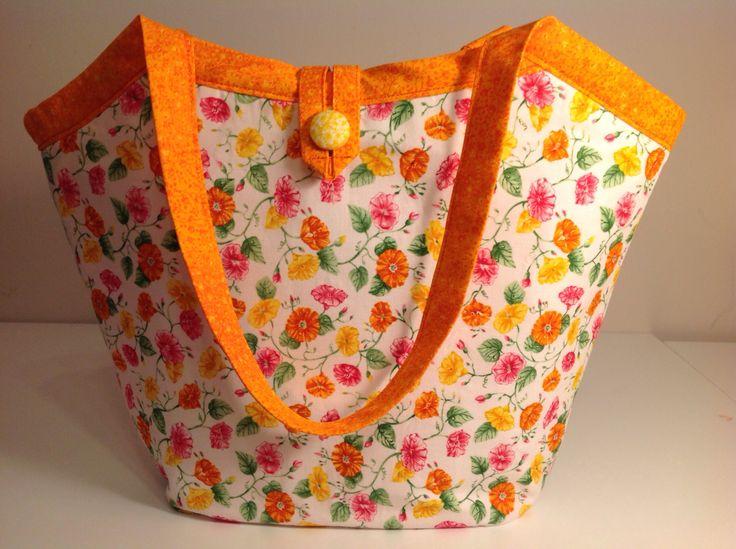 Reversible Bucket Bag, Amy Butler pattern from U-handbag.
